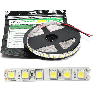 Лента LED SMD5050  96/м, 24В, IP20, 17Вт/м, белый холодный, 5м, цена за 1м, LP